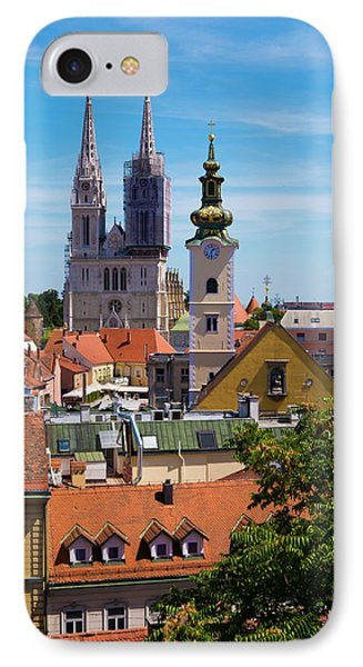View Of Zagreb Phone Case by Rae Tucker