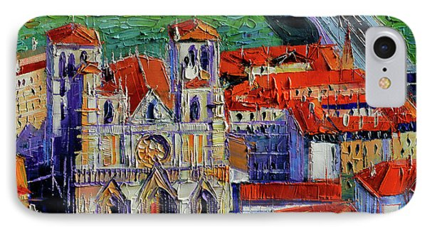 View Over Cathedral Saint Jean Lyon IPhone Case