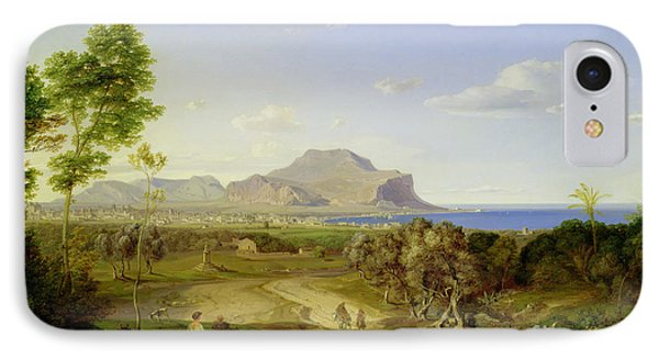 View Over Palermo Phone Case by Carl Rottmann