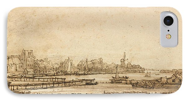 View Over The Amstel From The Rampart IPhone Case by Rembrandt