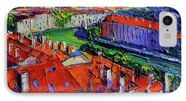 View Over The City Of Lyon France IPhone Case by Mona Edulesco