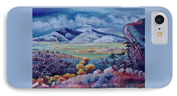 IPhone Case featuring the painting View South From Cedar Breaks by Dawn Senior-Trask