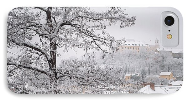 View To Spilberg Castle In Brno IPhone Case by Jenny Rainbow
