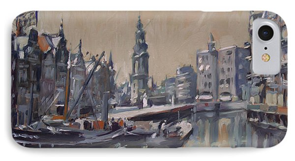 View To The Mint Tower Amsterdam IPhone Case by Nop Briex