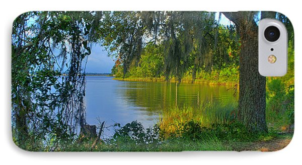 View Under The Spanish Moss IPhone Case by Brian Wright