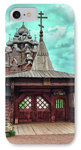 views of Holy gates and Church of the Intercession of the blessed virgin Mary IPhone Case