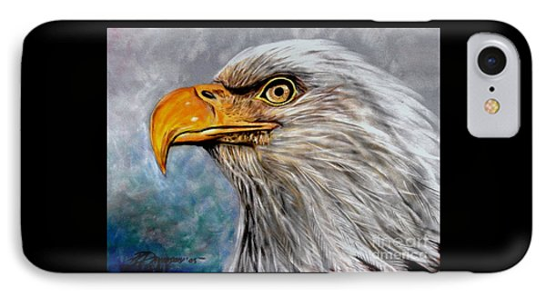 IPhone Case featuring the painting Vigilant Eagle by Patricia L Davidson