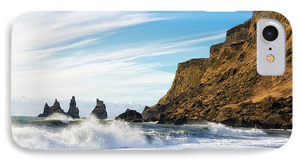 IPhone Case featuring the photograph Vik Reynisdrangar Beach And Ocean Iceland by Matthias Hauser