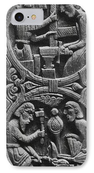 Viking Blacksmiths Forge The Sword Phone Case by Photo Researchers