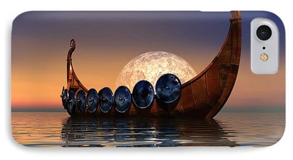 Viking Boat Phone Case by Corey Ford
