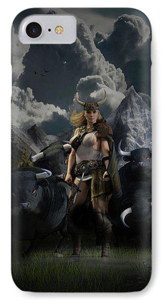 Viking Gefjon Phone Case by Andy Renard