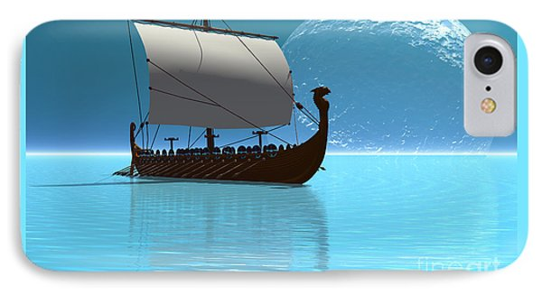 Viking Ship 2 IPhone Case by Corey Ford