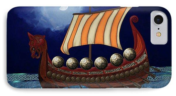 IPhone Case featuring the digital art Viking Ship by Megan Dirsa-DuBois