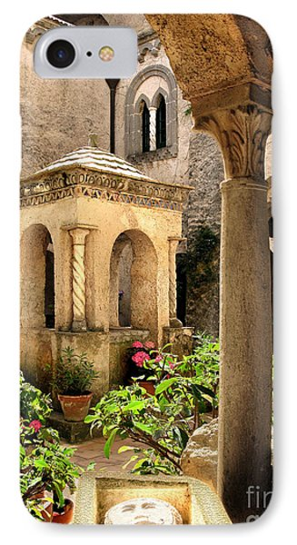Villa Cimbrone. Ravello IPhone Case by Jennie Breeze