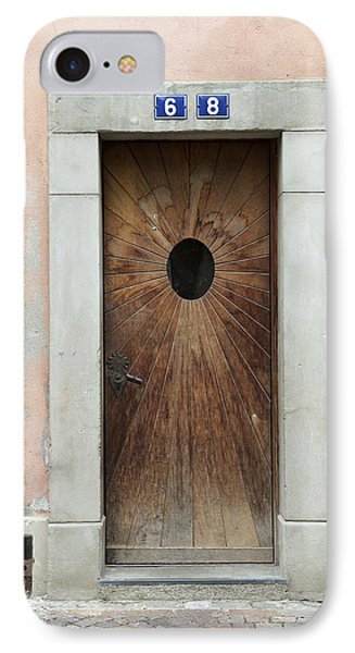 Village Door Surrounded By Peach IPhone Case by Colleen Williams
