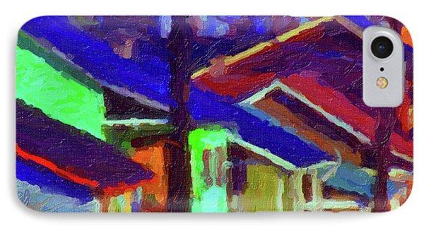 Village Houses IPhone Case by Richard Farrington