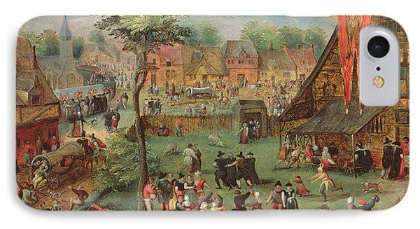 Village Kermesse IPhone Case by Hans Bols