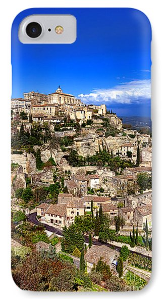 Village Of Gordes In Provence IPhone Case by Olivier Le Queinec