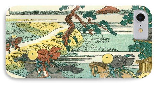 Village Of Sekiya At Sumida River IPhone Case