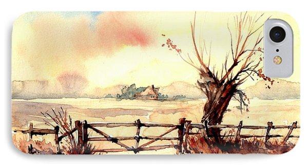 Sparrow iPhone 7 Case - Village Scene IIi by Suzann's Art