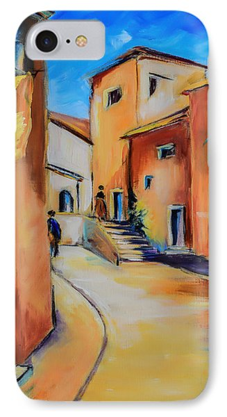 Village Street In Tuscany IPhone Case