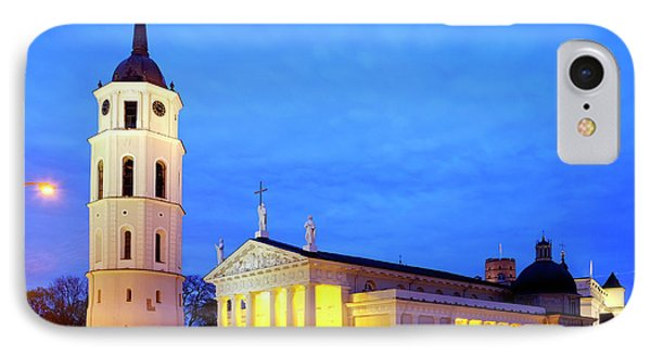 IPhone Case featuring the photograph Vilnius Cathedral by Fabrizio Troiani