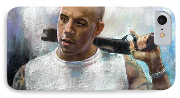 Vin Diesel IPhone Case by Ylli Haruni