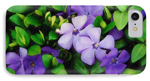 IPhone Case featuring the photograph Vinca by Sandy MacGowan