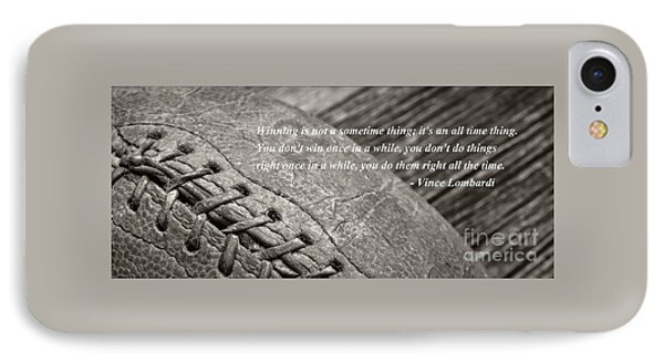 Vince Lombardi Football Mug IPhone Case by Edward Fielding