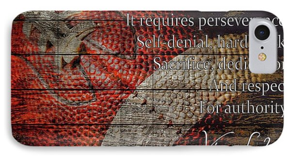 Vince Lombardi Football Quote Barn Door IPhone Case by Dan Sproul