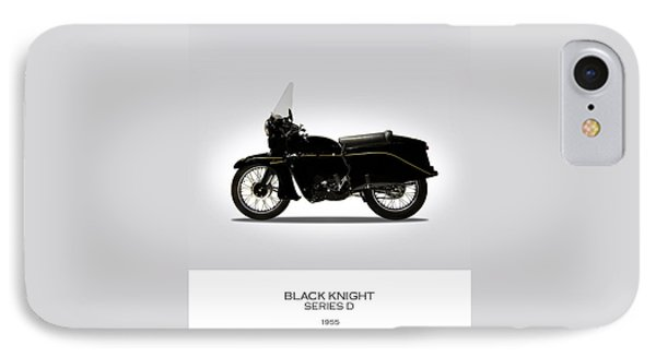 Vincent Black Knight 1955 Phone Case by Mark Rogan