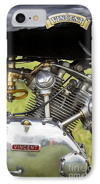 Vincent Comet Motorcycle Engine IPhone Case by Tim Gainey