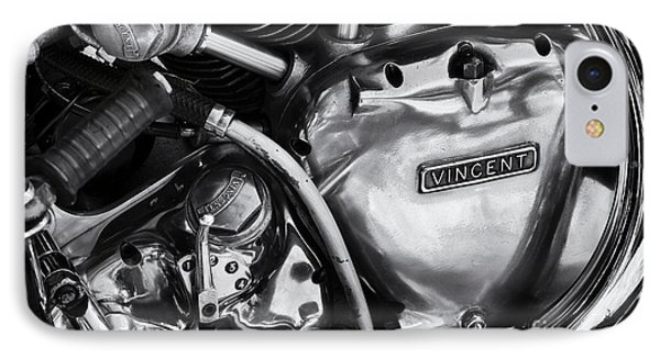 Vincent Engine Detail IPhone Case by Tim Gainey
