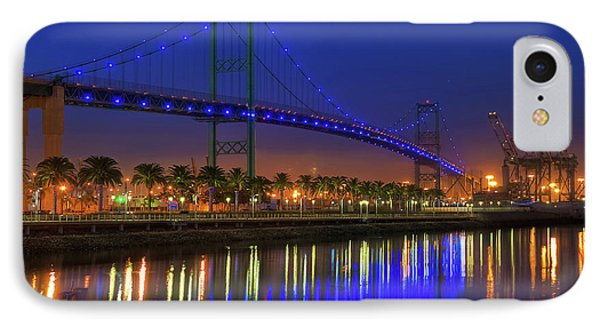 Vincent Thomas Bridge Phone Case by Eddie Yerkish