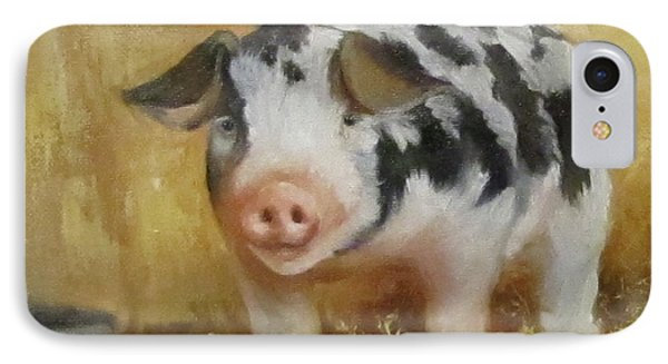 IPhone Case featuring the painting Vindicator The Spotted Pig by Cheri Wollenberg