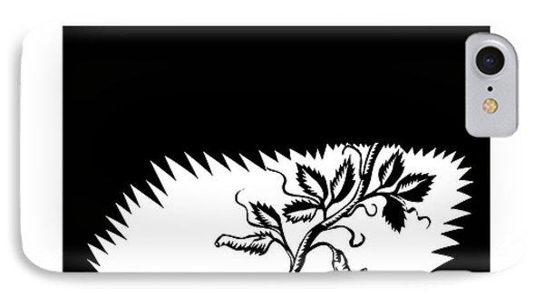 Vine Leaves Morphing Maggots Woodcut IPhone Case