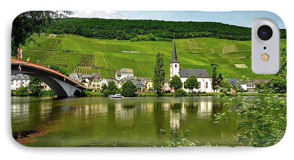 Vineyard Along The Moselle River IPhone Case by Mrs Brown