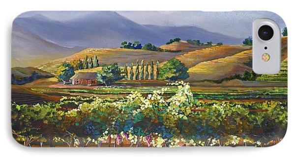 Vineyard In California Phone Case by Heather Coen