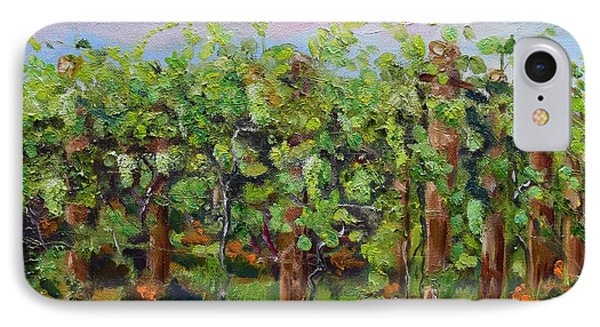 Vineyard Of Chateau Meichtry - Ellijay Ga - Plein Air Painting IPhone Case