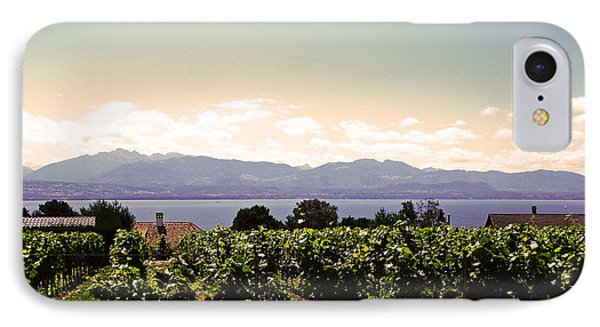 Vineyard On Lake Geneva Phone Case by Jeff Barrett