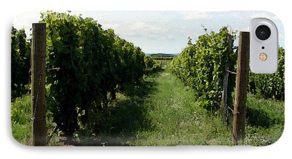 Vineyard On The Peninsula Phone Case by Michelle Calkins
