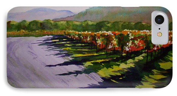 Vineyard Shadows IPhone Case by Becky Chappell