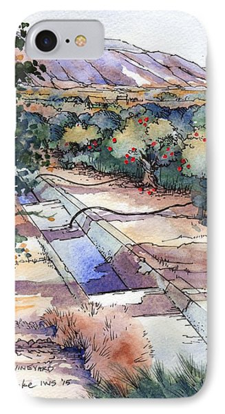 Orchard And Vineyard Valley IPhone Case by Steven Humke
