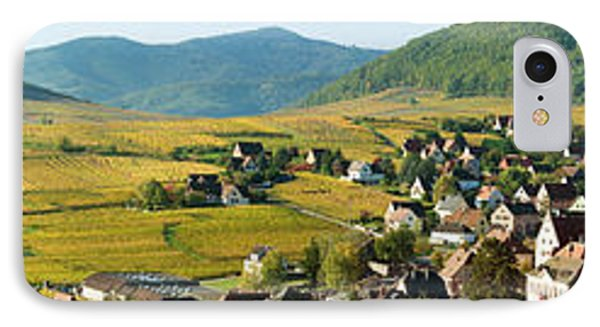 Vineyards In Autumn In The Morning IPhone Case by Panoramic Images