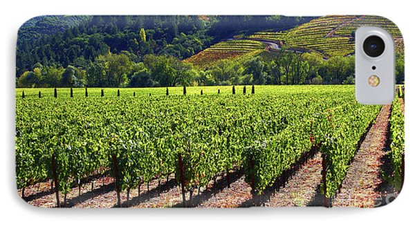 Vineyards In Sonoma County Phone Case by Charlene Mitchell