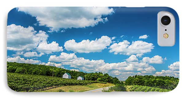Vineyards In Summer IPhone Case by Steven Ainsworth