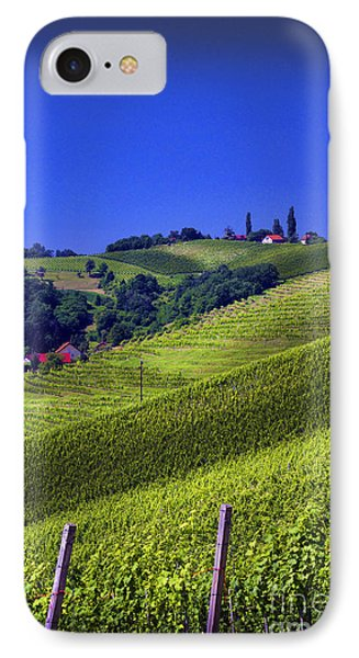 Vineyards Of Jerusalem Slovenia IPhone Case by Graham Hawcroft pixsellpix
