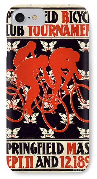 IPhone Case featuring the photograph Vintage 1895 Springfield Bicycle Club Poster by John Stephens
