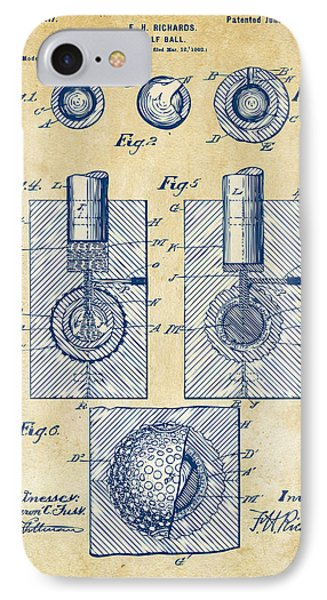 Vintage 1902 Golf Ball Patent Artwork Phone Case by Nikki Marie Smith