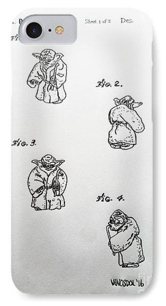 Vintage 1982 Star Wars Yoda Patent - Original IPhone Case by Scott D Van Osdol